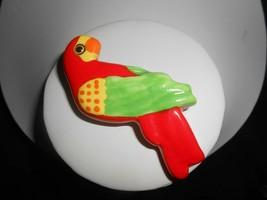 Parrot Pearls Ceramic Parrot Tropical Bird Brooch Pin Vintage Figural Je... - $38.00