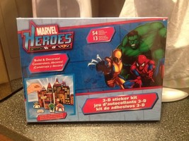 Marvel Heroes 3-D 3D Build and Create Sticker Kit Brand New Sealed Very Rare - $17.99
