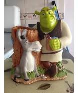 Disney Shrek & Talking Donkey Bathroom Cup Holder Cake Topper Figurine N... - $39.99