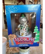 Rudolph Brass Key Collection Sam The Snowman Hand Crafted Glass Ornament... - $27.99