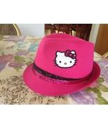 Sanrio Hello Kitty Girl Black Pink Sparkle Glitter Band Top Hat Cap Fedo... - $19.99