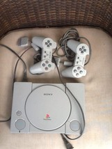 Playstation 1 Console(Untested) with 2 controllers - $19.35