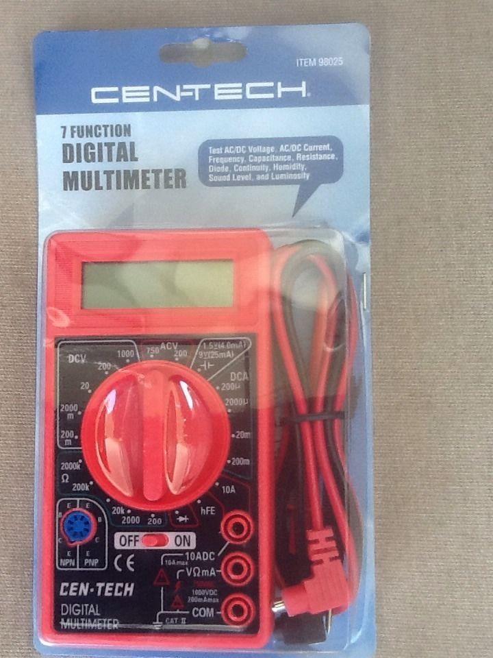 Cen Tech Digital Meter : Function digital multimeter by cen tech multimeters