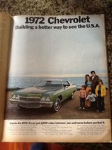 1972 Chevy Impala AD from Look magazine - $5.00