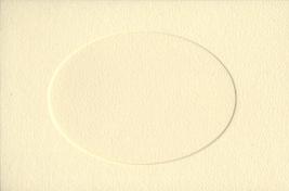 Ivory Oval Large Needlework Cards 5x7 cross stitch - $4.00