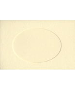 Ivory Oval Large Needlework Cards 5x7 cross stitch - $4.00