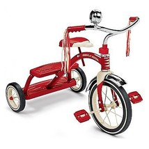 Radio Flyer Classic Red Dual Deck Trike Tricycle Ride On 33 Kid's Childr... - $101.13