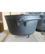 Cast iron  Dutch Oven 3 Gallon 12 qt Camping Cookware Wilderness Survival - $139.00