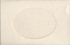 Parchment Oval Large Needlework Cards 5x7 cross stitch - $4.00