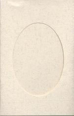Parchment Oval Large Needlework Cards 5x7 cross stitch