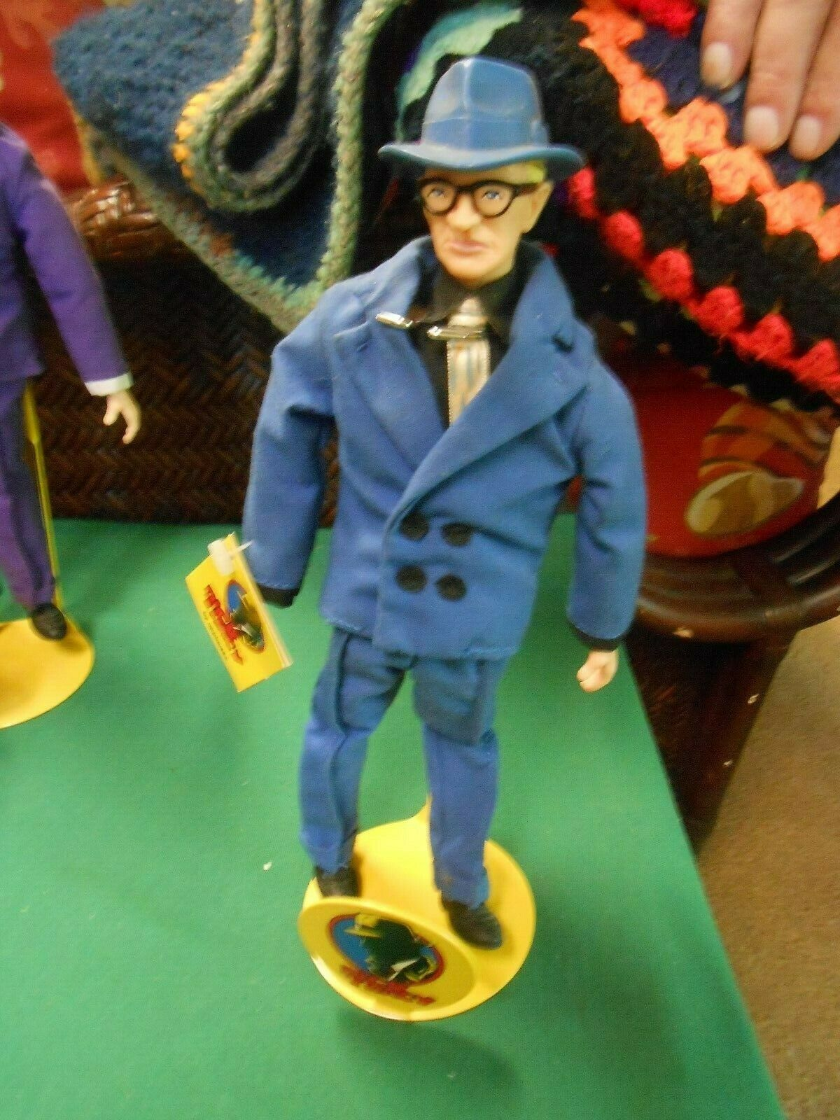 "DISNEY ""Applause""  6 DICK TRACY Character DOLLS w/ Metal Stands-FREE Postage USA"
