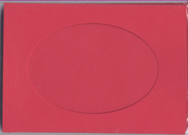 Red Oval Large Needlework Cards 5x7 cross stitch - $5.00