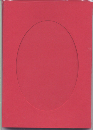 Red Oval Large Needlework Cards 5x7 cross stitch