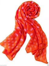 STELLA & DOT UNION SQUARE SCARF hot pink elephant Barcode Tag on side ba... - £36.86 GBP