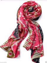 STELLA & DOT UNION SQUARE SCARF - GEO IKAT with Barcode Tag on side bag ... - $43.64