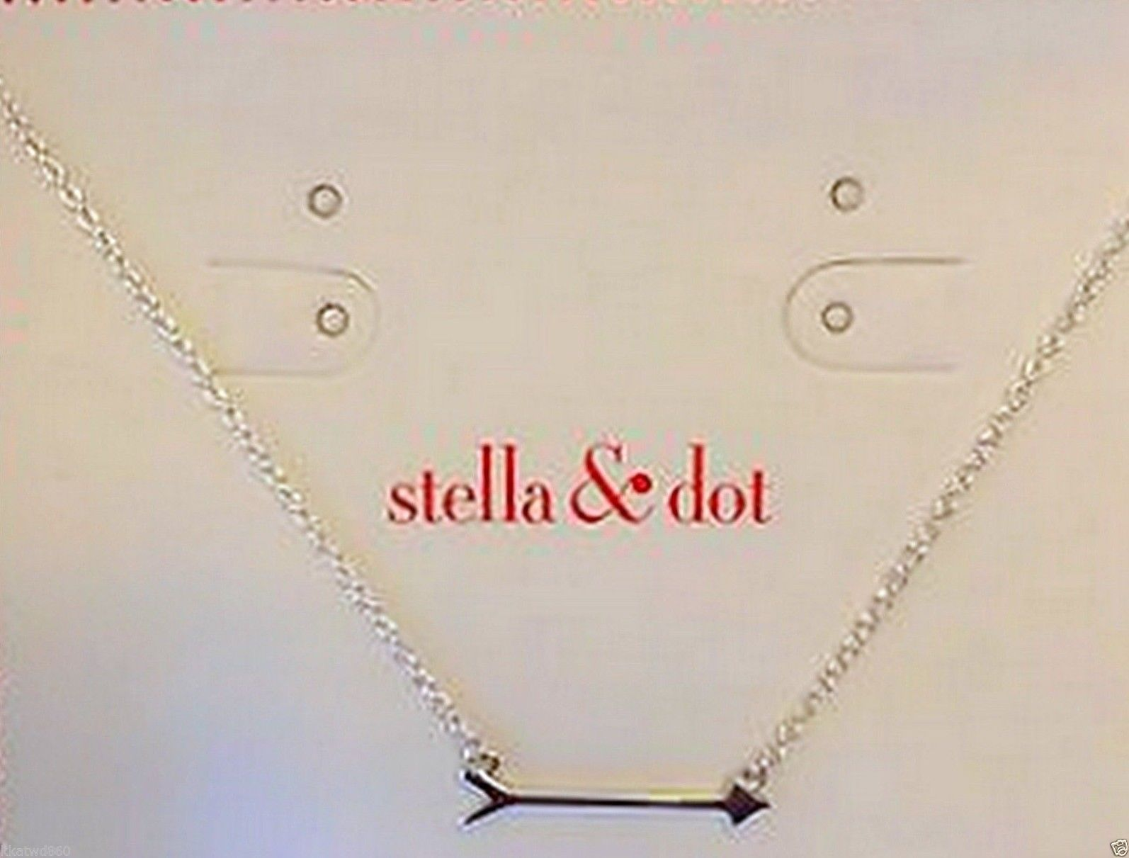 On the Mark Sterling SILVER ARROW NECKLACE with Tag on side of box