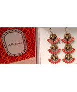 STELLA & DOT CORAL CAY EARRINGS New in Box with... - $43.64