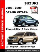 Suzuki Grand Vitara 2006   2009 Factory Oem Service Repair Workshop Fsm Manual - $14.95
