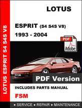 Lotus Esprit 1993   2004  Factory Oem Service Repair Workshop Shop Fsm Manual - $14.95
