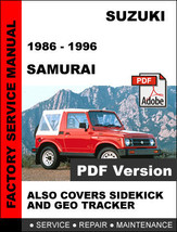 suzuki samurai 1986 repair service manual