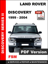 Land Rover Discovery 1999   2004 Factory Oem Service Repair Workshop Fsm Manual - $14.95