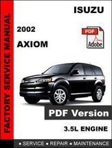 ISUZU AXIOM 2002 FACTORY OEM SERVICE REPAIR WORKSHOP SHOP MAINTENANCE FS... - $14.95