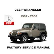 Jeep Wrangler 1997   2006 Factory Oem Service Repair Workshop Shop Fsm Manual - $14.95
