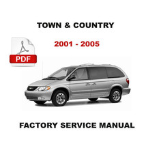 Chrysler Town & Country  2001   2005 Factory Service Repair Workshop Fsm Manual - $14.95