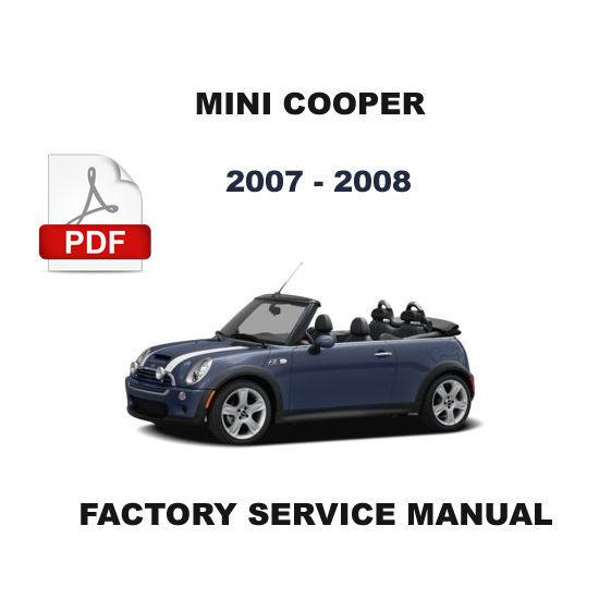 MINI COOPER 2007  - 2008 ULTIMATE FACTORY SERVICE REPAIR WORKSHOP MANUAL