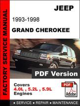 JEEP GRAND CHEROKEE 1993 - 1998  4.0 5.2 5.9 + 2.5 DIESEL ENGINES SERVIC... - $14.95