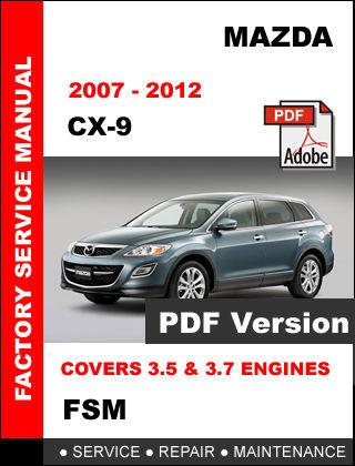 service manual pdf 2007 mazda cx 9 service manual. Black Bedroom Furniture Sets. Home Design Ideas