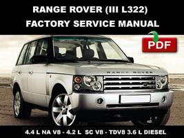 Rover Range Rover Iii L322 2007   2010 Diesel Factory Service Repair Fsm Manual - $14.95