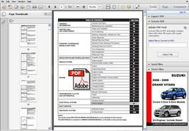 Suzuki Grand Vitara 2006   2009 Jb416 Jb419 Jb420 Jb627 Factory Workshop Manual - $14.95