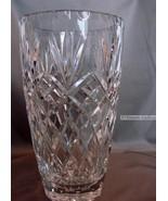 Bohemia Crystal Barrel Vase 10 inches Tall (24.5cm) - $80.00