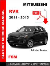 Mitsubishi Rvr 2011 2012 2013 Ultimate Factory Service Repair Workshop Manual - $14.95