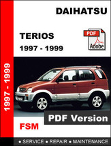 DAIHATSU TERIOS 1997 - 1999 FACTORY OEM SERVICE REPAIR WORKSHOP SHOP FSM... - $14.95