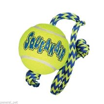 Kong Airdog Squeakair Tennis Ball With Rope Medium - $7.62