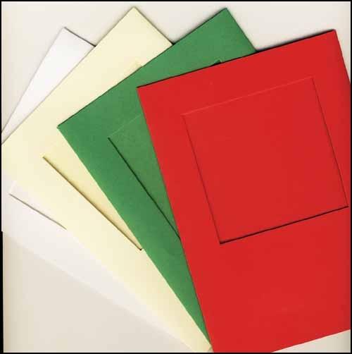 White Square Large Needlework Cards 5x7 cross stitch