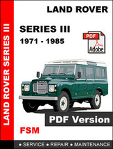LAND ROVER SERIES III FACTORY OEM SERVICE REPAIR WORKSHOP FSM MAINTENANC... - $14.95