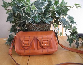 Kenneth Cole Orange Leather Cross Body Strap Sm... - $27.71
