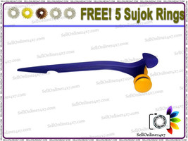 New Spine Roll Massager For Acupressure Therapy With Free Sujok Rings - $338,40 MXN