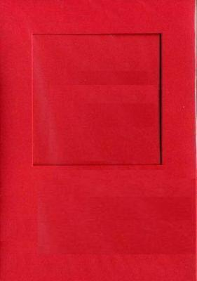 4245 red square needlework card