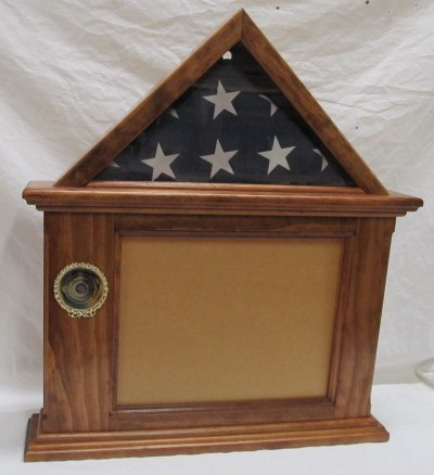 "Primary image for Flag & Document Certificate Display, English Chestnut Finish 3x5 flag 8-1/2"" Doc"