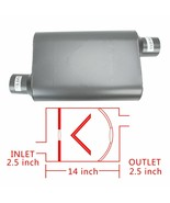 """Pair Chambered Performance Race Offset 2.5"""" Inlet /n2.5''Outlet Mufflers... - $51.41"""