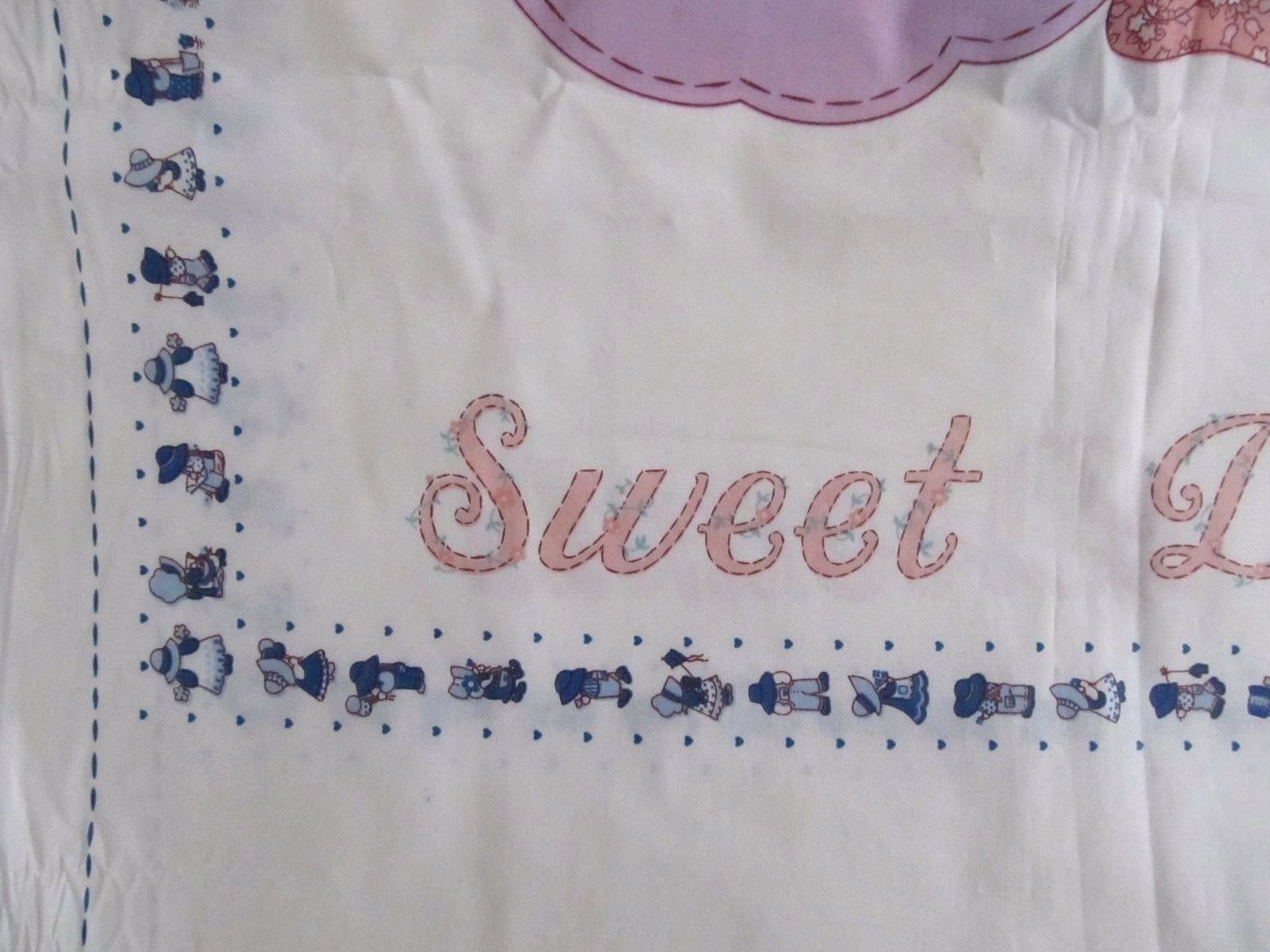 Sunbonnet Sue Pillowcase Fabric Panel includes Front and Back Joan Kessler