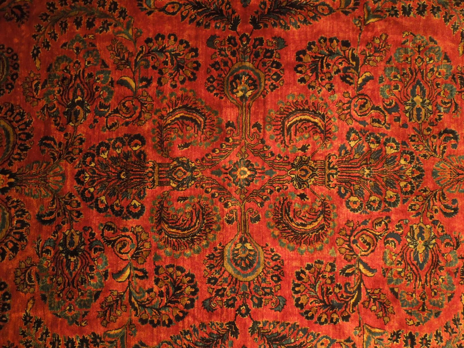Red Sarouk Persian Wool Handmade Rug 11' x 18' Vivid Red Detailed Original Rug image 6