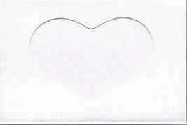 White Heart Large Needlework Cards 5x7 cross stitch - $4.00