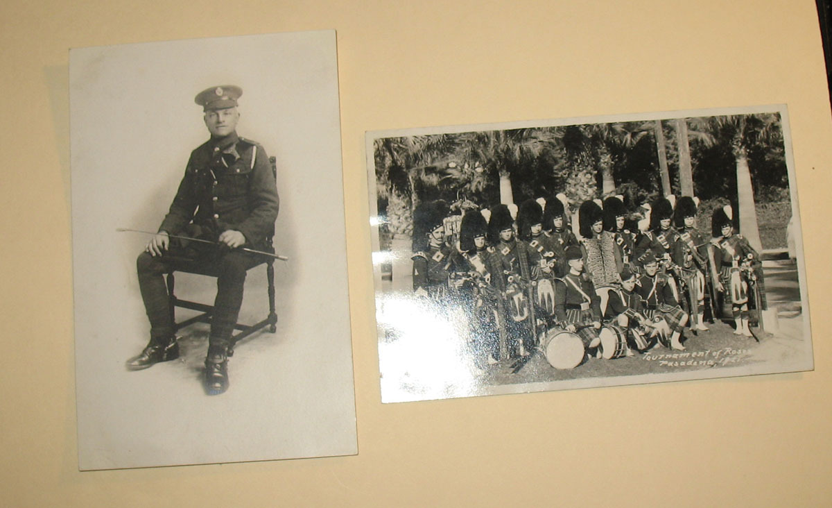 2 Authentic Photographic Postcards, Tournament of Roses, 1921 Black & White