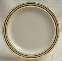 "Homer Laughlin Dinner Plate Yellow & Brown Bands Vintage 10-1/4"" Dinnerware USA - $21.77"