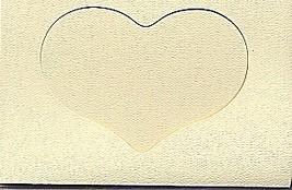 Ivory Heart Large Needlework Cards 5x7 cross stitch - $5.00
